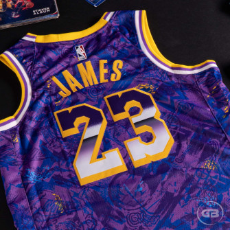 Nike NBA Lebron James Lakers Select Series Jersey ''Field Purple/Amarillo''