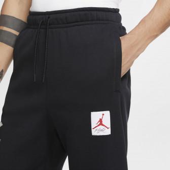 Air Jordan AJ4 Graphic Fleece Pants ''Black/University Red''
