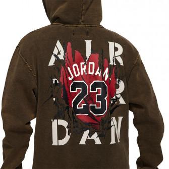 Air Jordan AJ5 Jersey Graphic Fleece Hoodie ''Washed Black/Green''