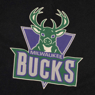 M&N NBA Milwaukee Bucks Traditional Logo T-Shirt ''Black''