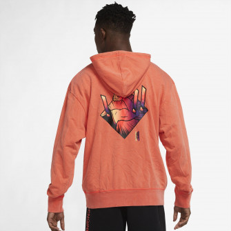 Air Jordan Dri-FIT Zion Performance Fleece Hoodie ''Bright Crimson''