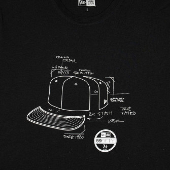 New Era Branded Geo Cap T-Shirt ''Black''