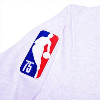 Nike NBA Boston Celtics Courtside Crew Sweatshirt ''Birch Heather/White-Clover''