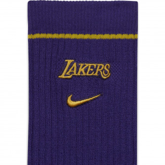 Nike NBA Los Angeles Lakers Courtside Crew Socks ''Field Purple''