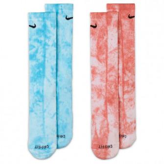 Nike Everyday Plus Tie-Dye Crew Socks ''Blue/Red''