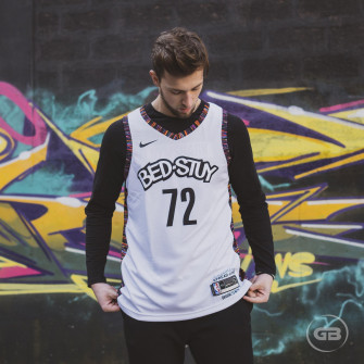 Nike NBA Biggie Brooklyn Nets City Edition Jersey ''White''