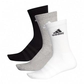 adidas Cushioned Crew 3-Pack Socks ''White/Grey/Black''