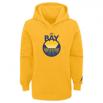 Nike NBA Golden State Warriors The Bay Fleece Kids Hoodie ''Yellow''