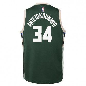 Nike Milwaukee Bucks Giannis Antetokounmpo Swingman Jersey ''Fir''