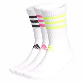 adidas 3-Stripes Cushioned Crew Socks 3-Pack ''Yellow/Pink/Black''