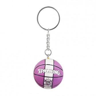 NBA Sacramento Kings Basketball Keychain ''Purple/White''