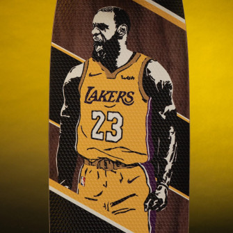 Grosbasket x JH_Boards LeBron James Skateboard ''The King''