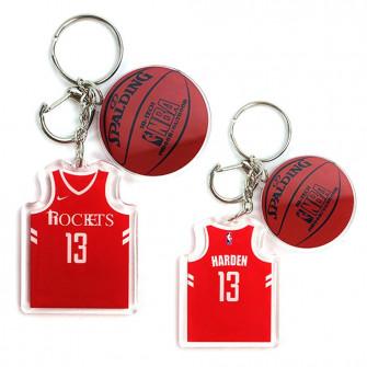 NBA Houston Rockets James Harden Keychain ''Red''