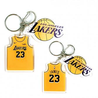 NBA Los Angeles Lakers Lebron James Keychain ''Yellow''