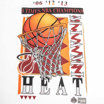 M&N NBA Miami Heat Champions Vibes T-Shirt ''White''