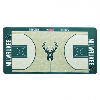 NBA Milwaukee Bucks Basketball Court Style Mouse Pad