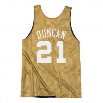 M&N San Antonio Spurs All Star 2003-04 Tim Duncan Reversible Mesh Tank ''Black/Gold''