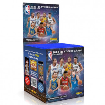 Panini NBA Sticker & Card 2020-21 Collection Stickers 50 Pack