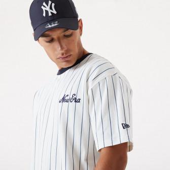 New Era Pinstripe Oversized T-Shirt ''White/Black''