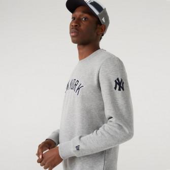 New Era MLB NY Yankees Script Crew Hoodie ''Grey''