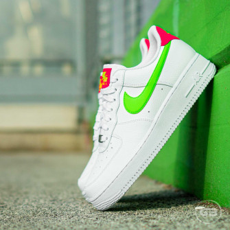 Nike Air Force 1 '07 ''White/Laser Crimson''