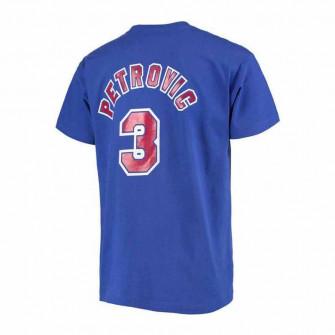 M&N NBA New Jersey Nets Dražen Petrović HWC Edition T-Shirt ''Blue''