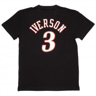 M&N NBA Philadelphia 76ers Allen Iverson HWC Edition T-Shirt ''Black''