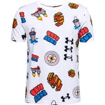 UA Hoops Sticker T-Shirt ''White''