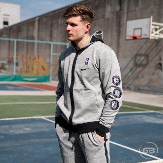 Nike NBA Brooklyn Nets Showtime Therma Flex Hoodie ''Dark Grey Heather''