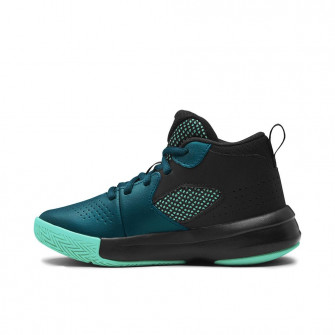 UA Lockdown 5 Basketball Shoes ''Blackout Teal/Green'' (PS)