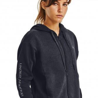 UA Rival Fleece Embroidered Full Zip Hoodie ''Black''