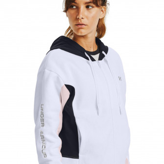 UA Rival Fleece Embroidered Full Zip Hoodie ''White''