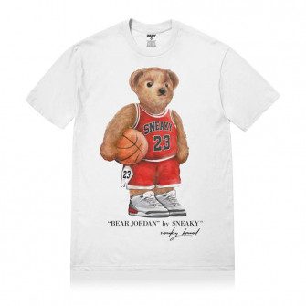 Sneaky Jordan Bear T-Shirt ''White''