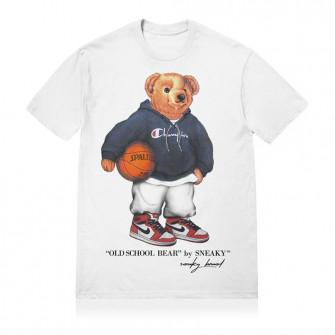 Sneaky Old School Bear T-Shirt ''White''