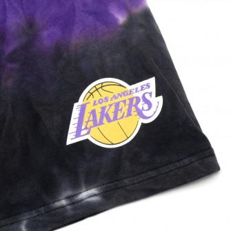 M&N Tie-Dye Terry Los Angeles Lakers Shorts ''Black/Purple''