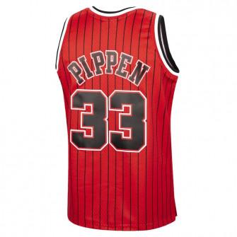 M&N NBA Chicago Bulls 1995-96 Stripes Swingman Jersey ''Scottie Pippen''