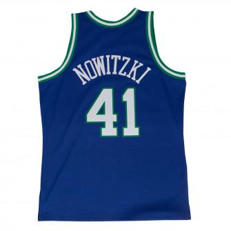 M&N NBA Dirk Nowitzki Dallas Mavericks 1998-99 Road Swingman Jersey ''Blue''