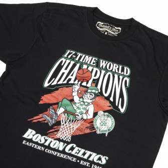 M&N NBA Boston Celtics 17-Time World Champions Print T-Shirt ''Black''