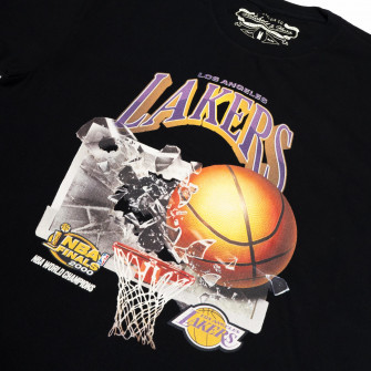 M&N NBA Los Angeles Lakers Champions Print T-Shirt ''Black''