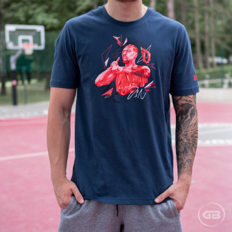 adidas Dame Superstar Graphic T-Shirt ''Crew Navy''