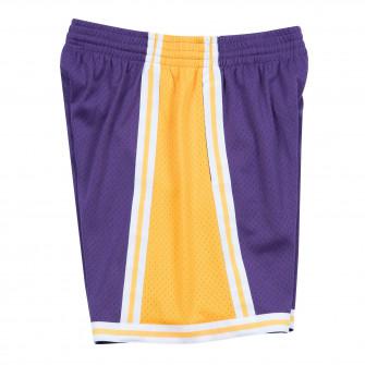 M&N NBA Los Angeles Lakers 1984-85 Road Swingman Shorts ''Purple''