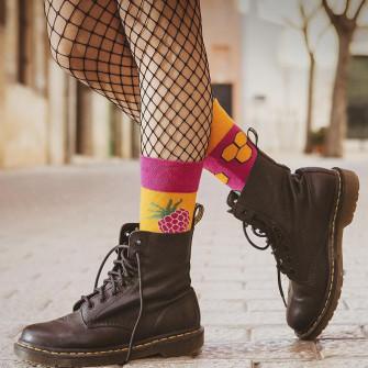 Spox Sox Wonderful Honey and Raspberry Socks