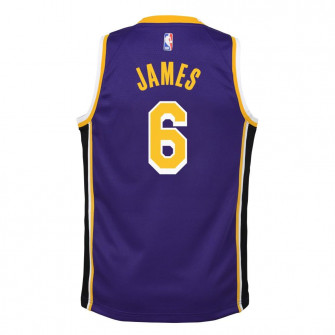 Air Jordan NBA Los Angeles Lakers Lebron James Statement Edition Kids Jersey ''Purple''